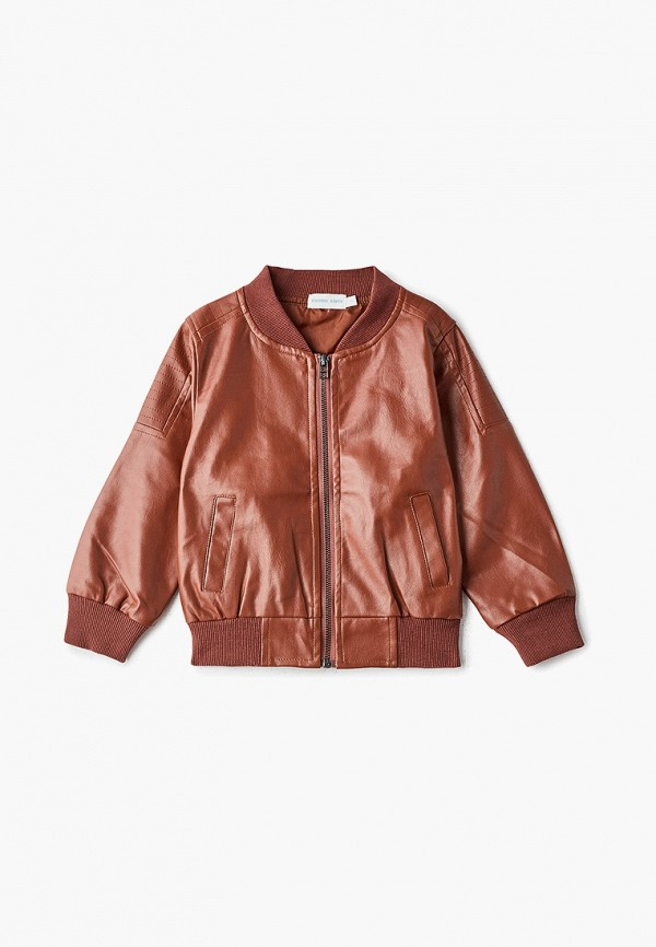 куртка moon river для мальчика, коричневая