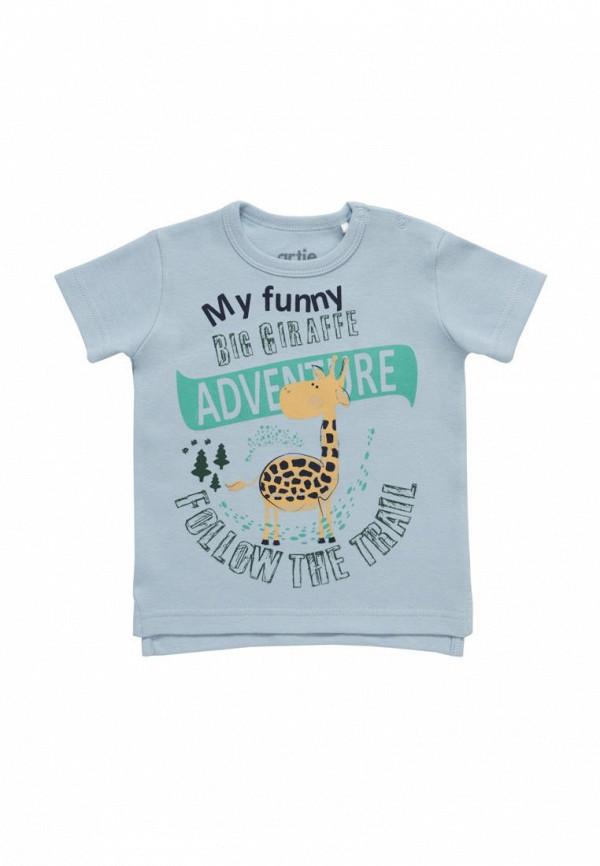 футболка с коротким рукавом artie для мальчика, голубая