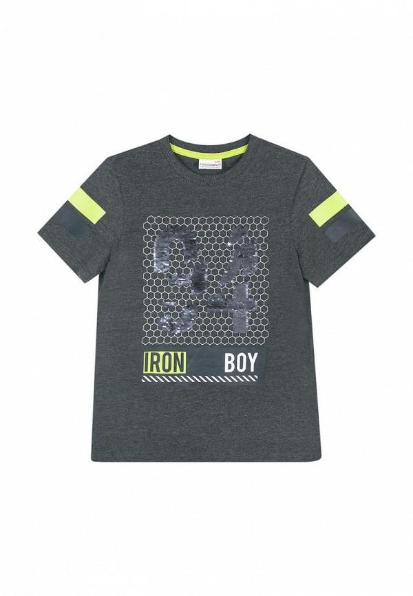 футболка с коротким рукавом coccodrillo для мальчика, серая