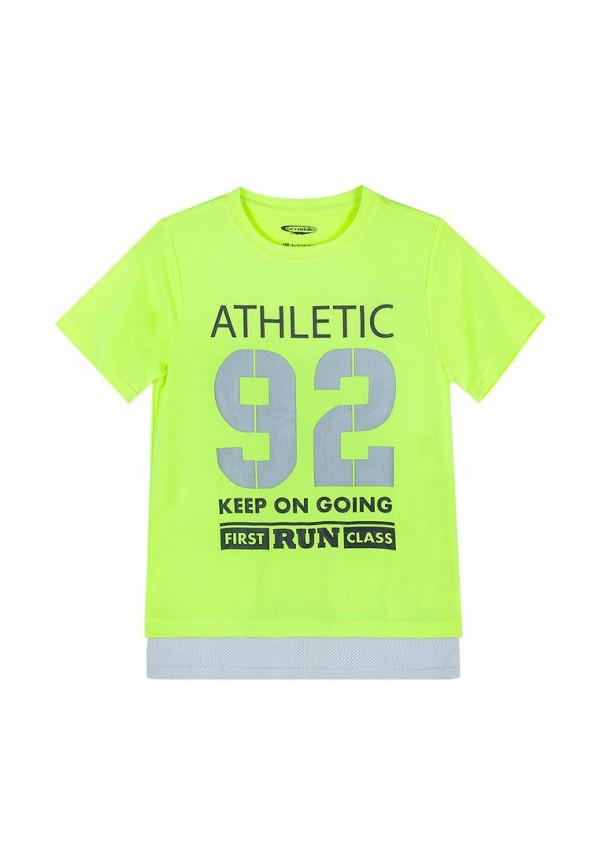 футболка с коротким рукавом coccodrillo для мальчика, зеленая