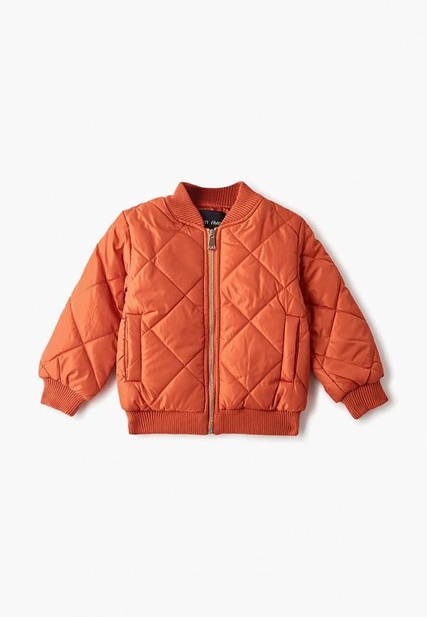 куртка moon river для мальчика, оранжевая