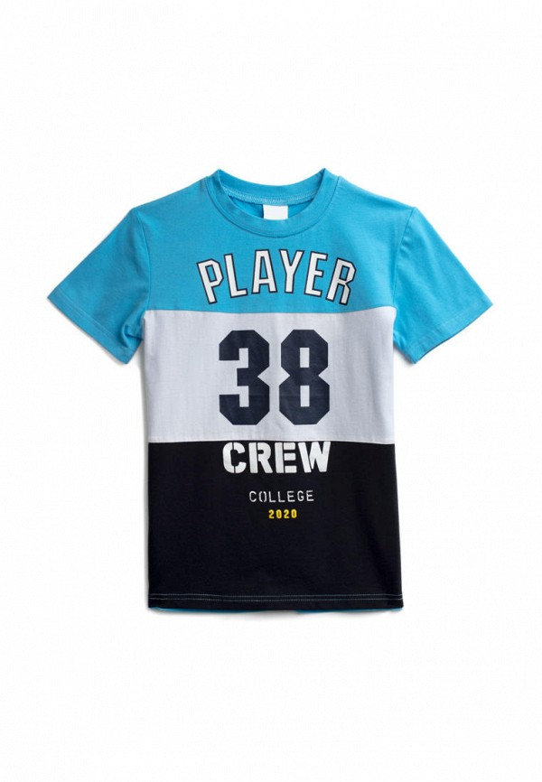 футболка с коротким рукавом playtoday для мальчика, голубая