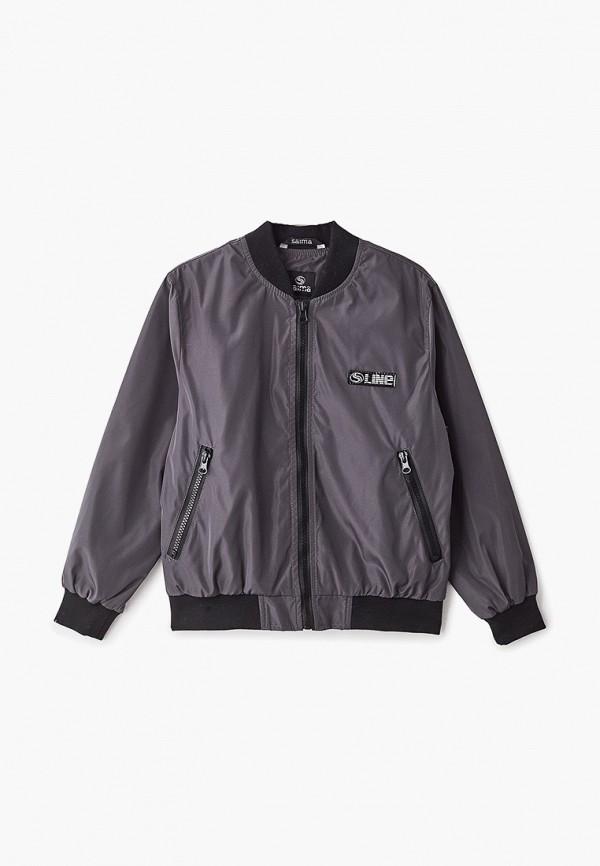 куртка saima для мальчика, серая