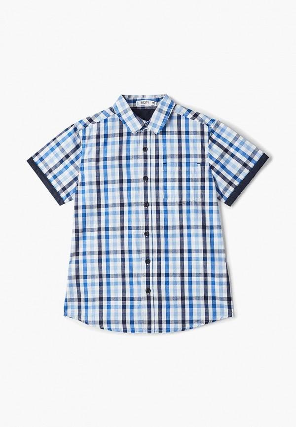 рубашка incity для мальчика, синяя