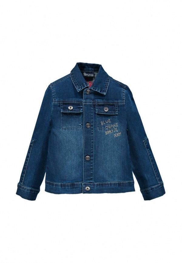куртка brums для мальчика, синяя