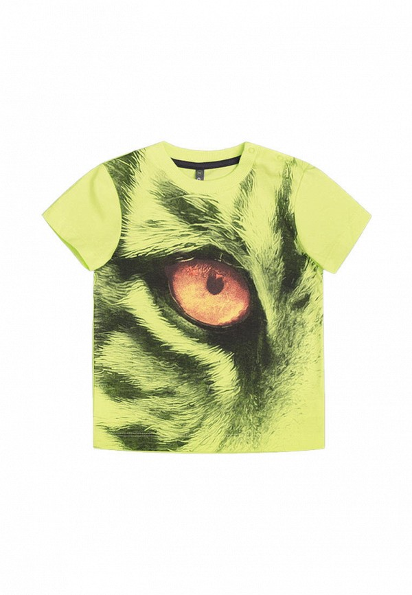 футболка crockid для мальчика, зеленая