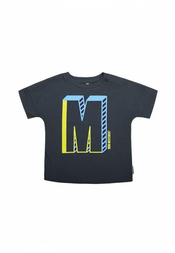 футболка crockid для мальчика, серая