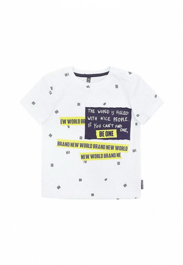 футболка crockid для мальчика, белая