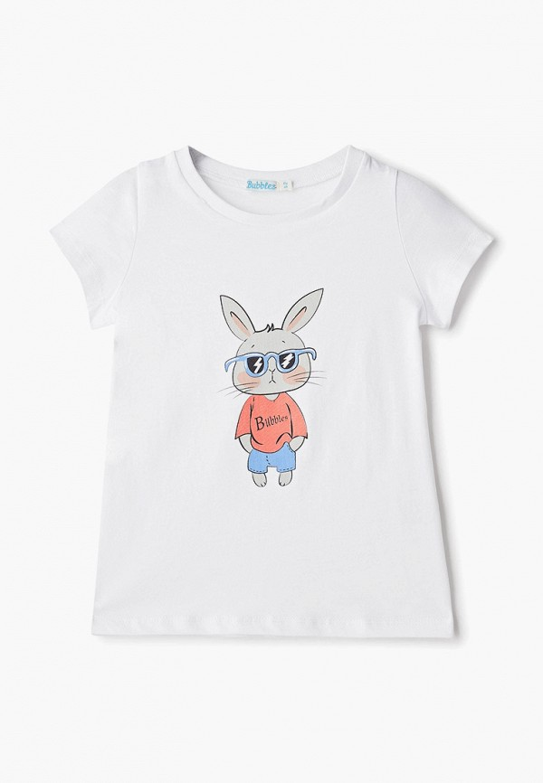 футболка с коротким рукавом bubble's magic для мальчика, белая