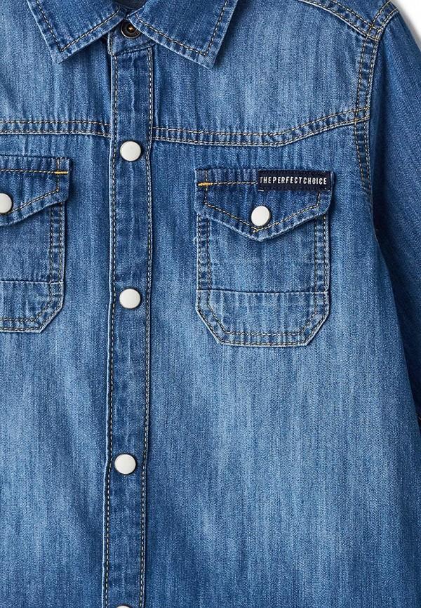 Рубашка для мальчика джинсовая LC Waikiki цвет синий  Фото 3