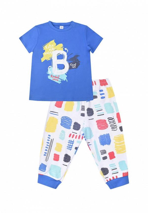 пижама crockid для мальчика, разноцветная