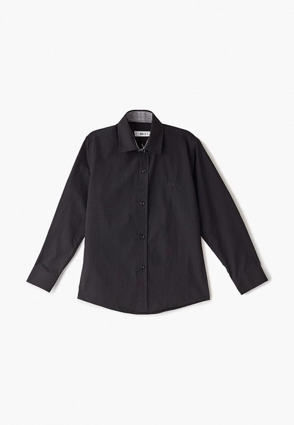 рубашка mili для мальчика, черная