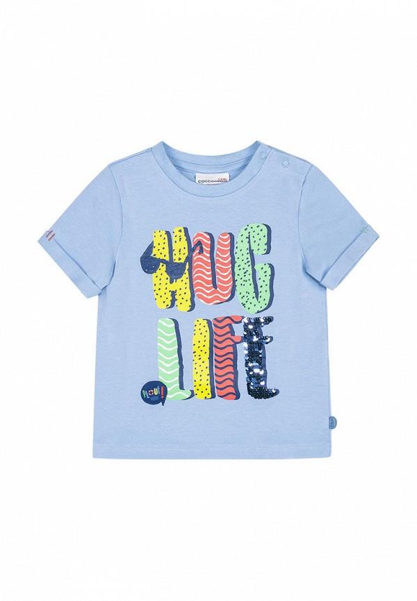 футболка coccodrillo для мальчика, голубая