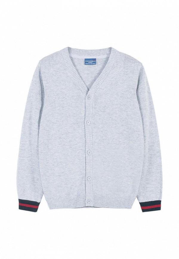 кардиган coccodrillo для мальчика, серый