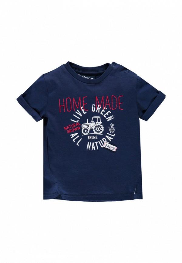 футболка с коротким рукавом brums для мальчика, синяя
