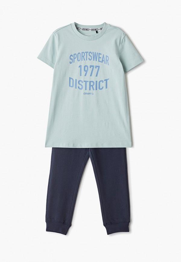 футболка craft для мальчика, бирюзовая