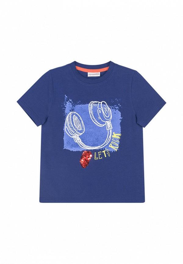 футболка coccodrillo для мальчика, синяя