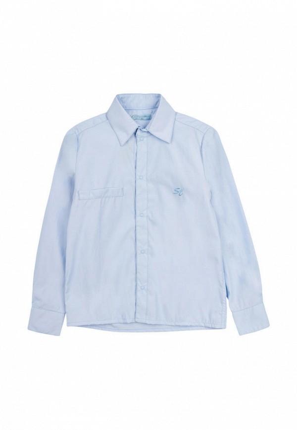 рубашка smile time для мальчика, голубая