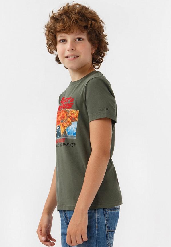 Футболка для мальчика Finn Flare цвет хаки  Фото 5