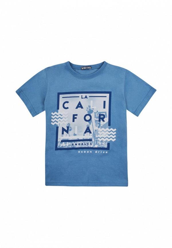 футболка с коротким рукавом smile time для мальчика, синяя