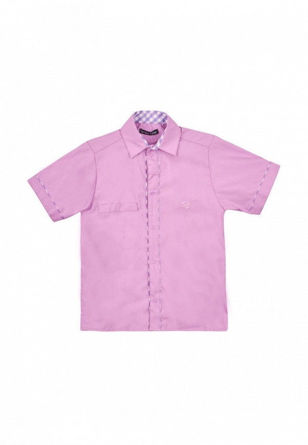 рубашка smile time для мальчика, розовая