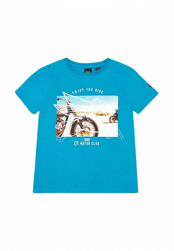 футболка le temps des cerises для мальчика, голубая