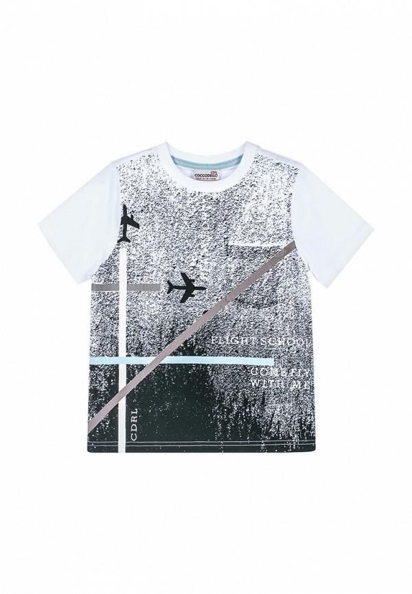 футболка coccodrillo для мальчика, разноцветная
