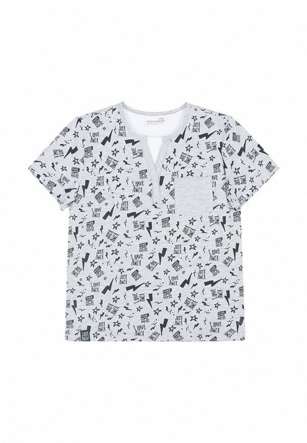 футболка coccodrillo для мальчика, серая