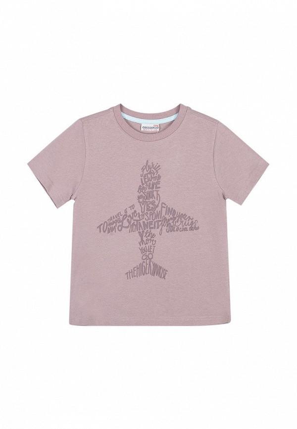 футболка coccodrillo для мальчика, коричневая