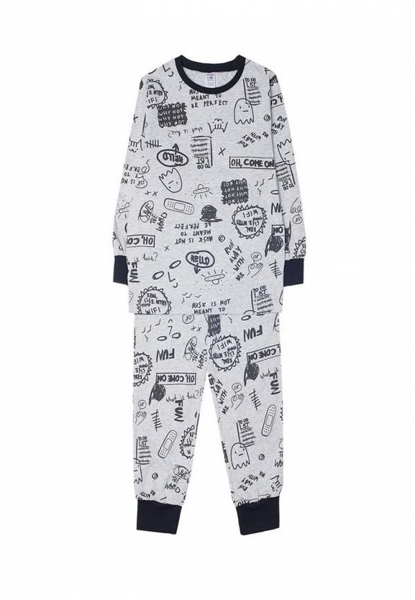 пижама crockid для мальчика, серая