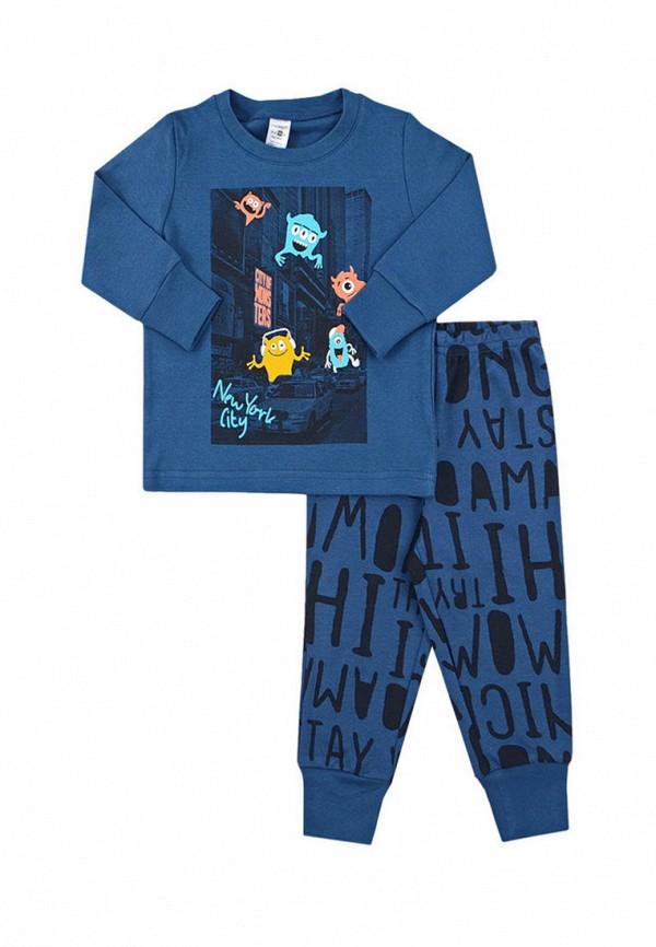 пижама crockid для мальчика, синяя