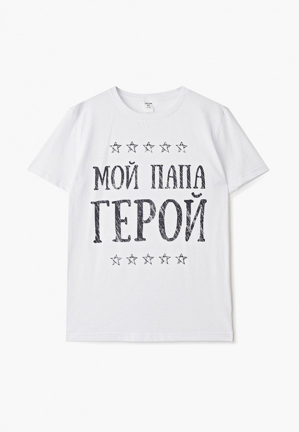 футболка наше для мальчика, белая