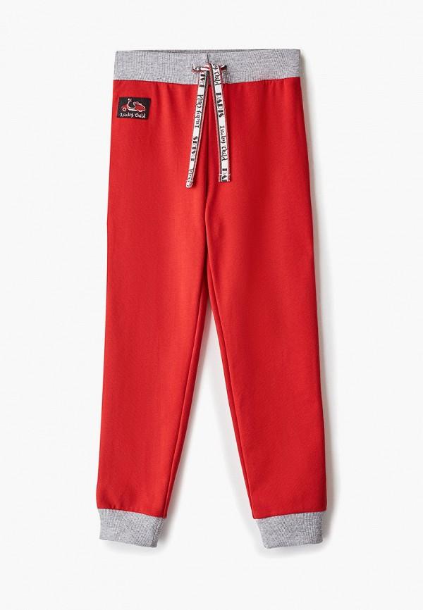 брюки lucky child для мальчика, красные