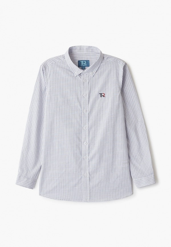рубашка trenders для мальчика, серая