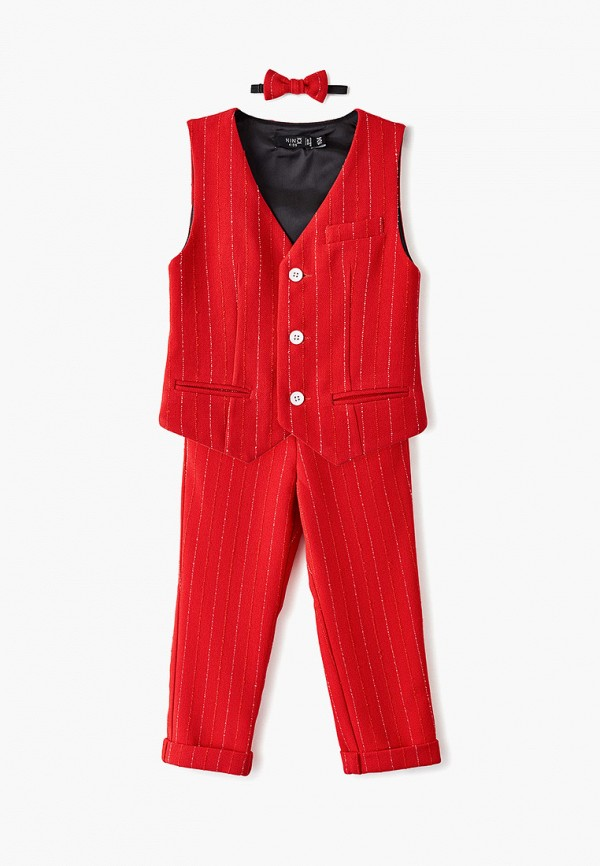 костюм nino kids для мальчика, красный