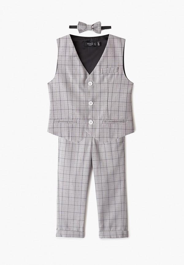 костюм nino kids для мальчика, серый