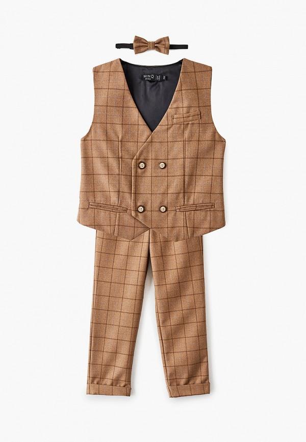 костюм nino kids для мальчика, коричневый