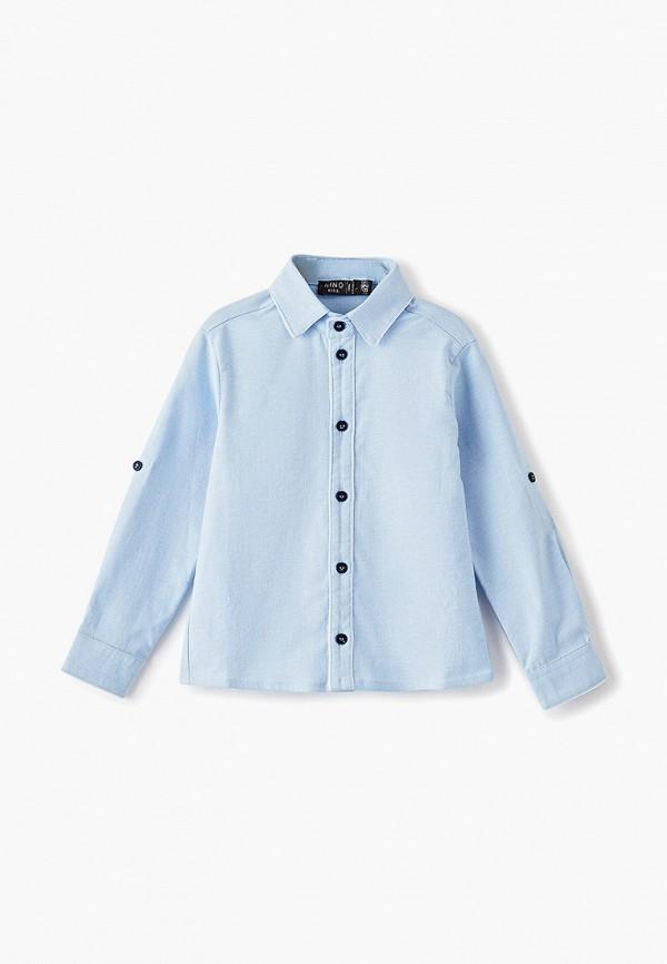 рубашка nino kids для мальчика, голубая