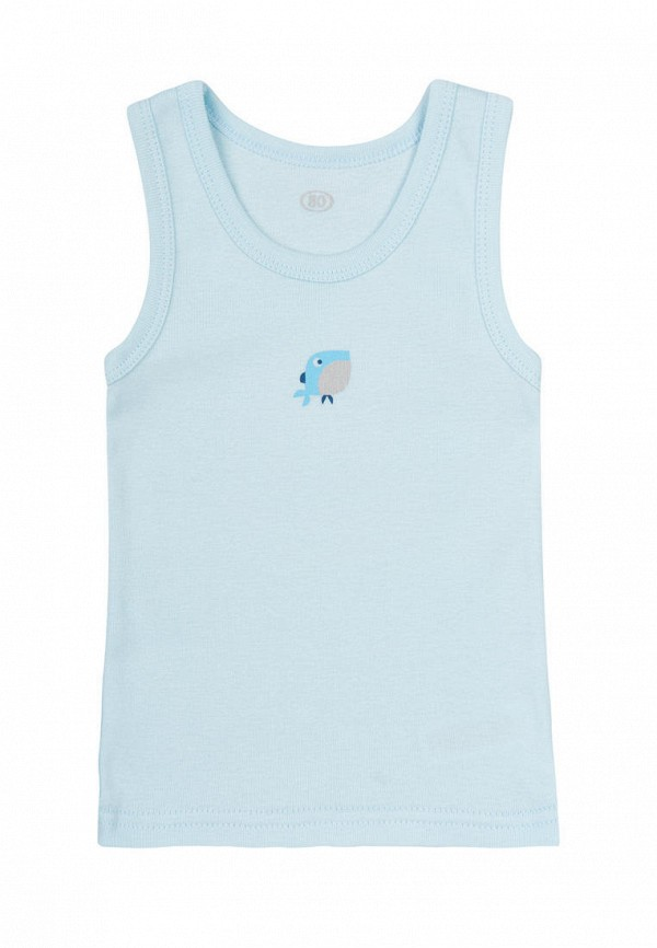 майка фламинго текстиль для мальчика, голубая