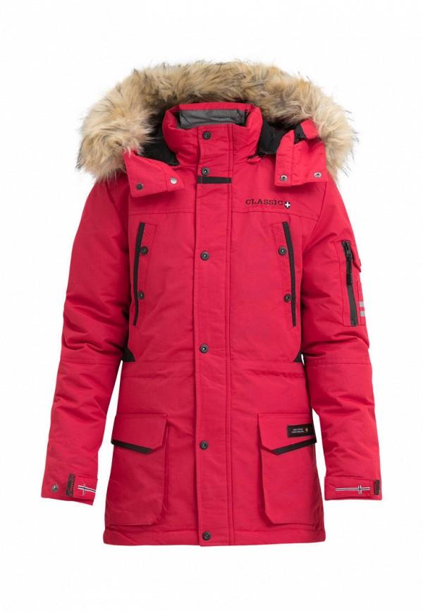 куртка jan steen для мальчика, красная