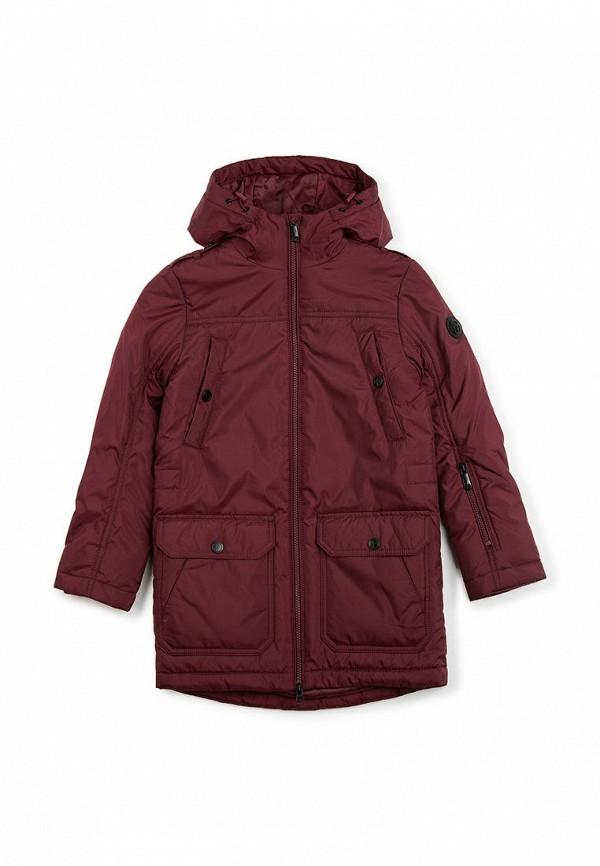куртка finn flare для мальчика, бордовая