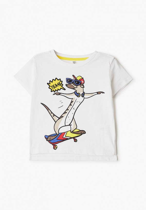 футболка infunt для мальчика, белая