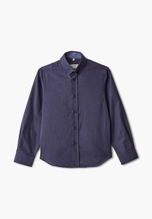 рубашка colletto bianco для мальчика, синяя