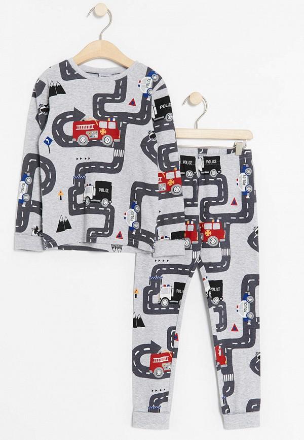 пижама lindex для мальчика, серая
