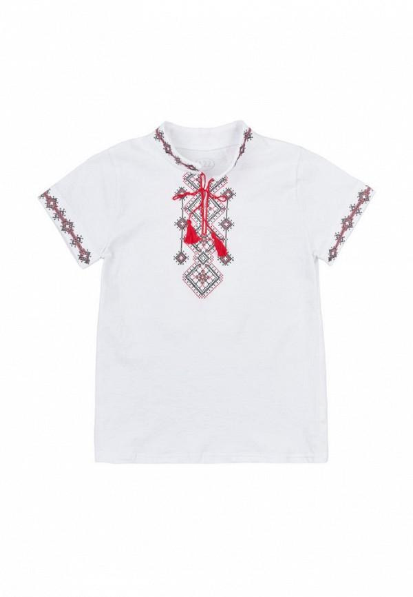 рубашка фламинго текстиль для мальчика, белая