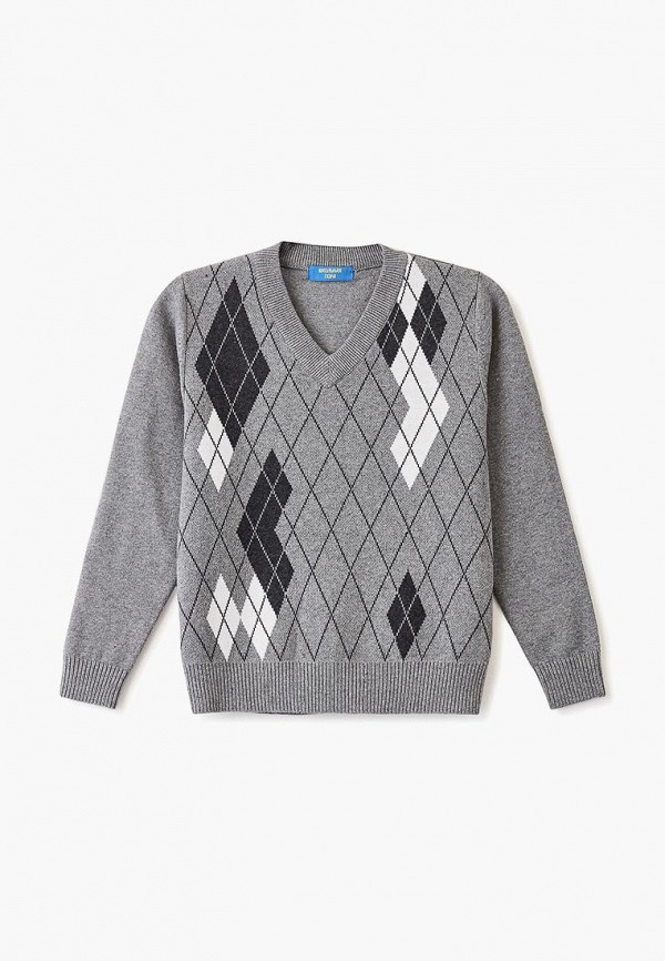 пуловер школьная пора для мальчика, серый