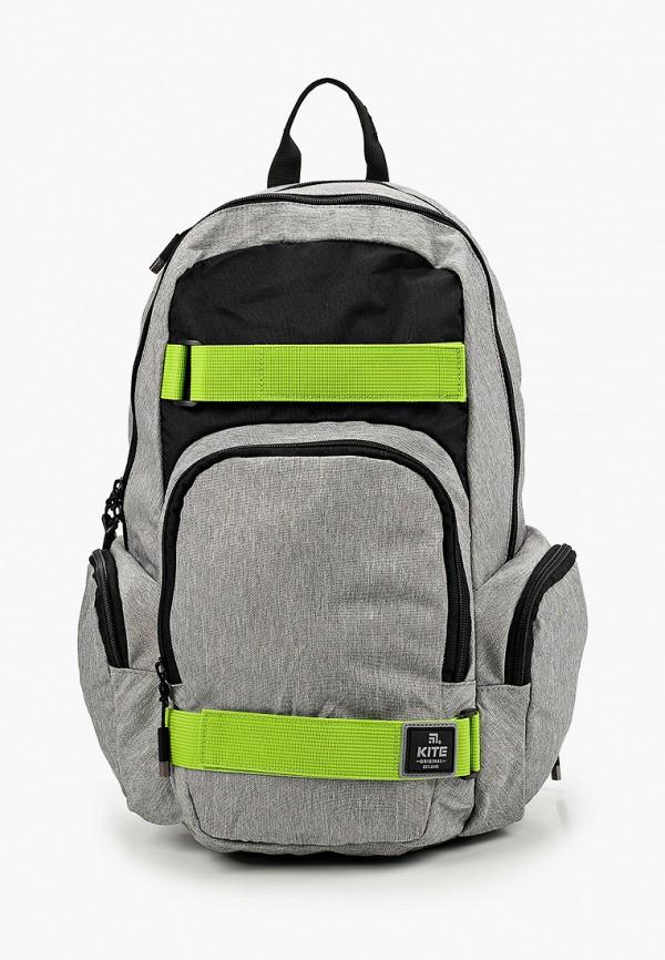 рюкзак kite для мальчика, серый
