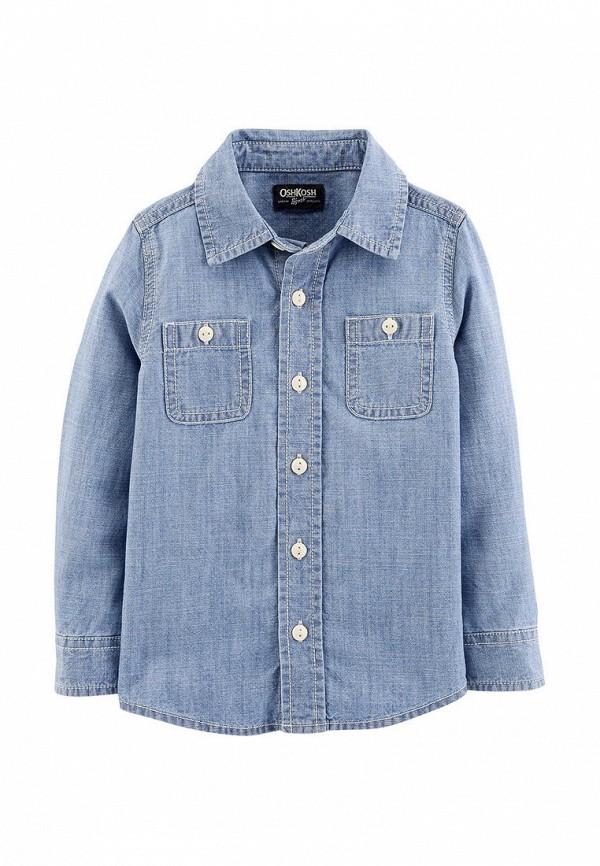 рубашка oshkosh для мальчика, синяя