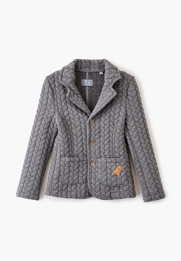 пиджак trenders для мальчика, серый