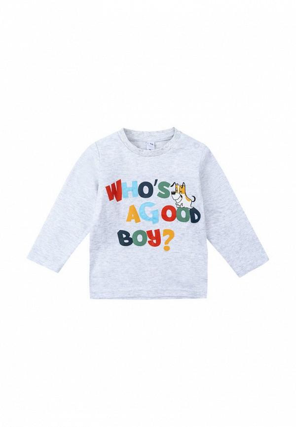 лонгслив playtoday для мальчика, серый